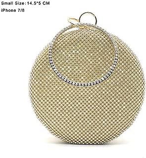 Crystal bag simple bridal wedding purse shoulder bag diamond circle round bag