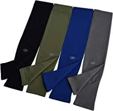 UV Sun Protection Cooling Arm Sleeves4-Pairsfor Men Women Cycling, Golf, Outdoor Sports