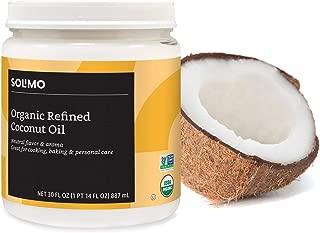 Amazon Brand - Solimo Organic Virgin Coconut Oil, Refined, Non-GMO, 30 ounce