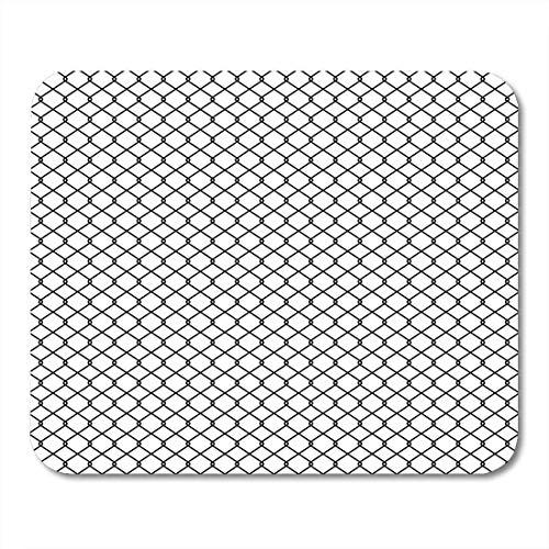 Mauspads barrier mesh kettenglied zaun geflecht drahtgitter metall barbed border mauspad für notebooks, Desktop-computer matten büromaterial
