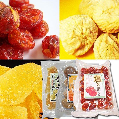 ドライフルーツセット (塩トマト+トルコ産いちじく+生姜糖)