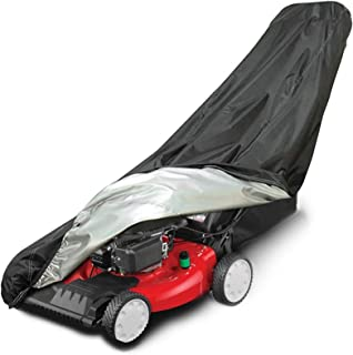 AIFUSI Lawn Mower Cover, Waterproof Heavy Duty Dust Cover for Push Mower UV Protection, with Drawstring & Cover Storage Bag