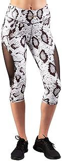 Prozis 134 X-Sense 卡普里裤 - 半月亮蛇 S/白色/黑色打底裤