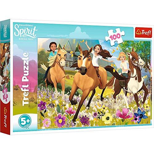 Brandsseller Kinder Puzzle 100 Teile mit Motiven im Stil von Spirit