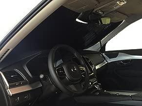 The Original Windshield Sun Shade, Custom-Fit for Volvo XC90 SUV w/Sensor 2016, 2017, 2018, 2019, Silver Series