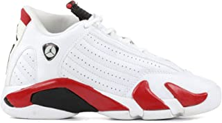 b8444aad0f04a3 Nike AIR Jordan Retro 14 Basketball Shoes Size 6 White Black-Varsity Red