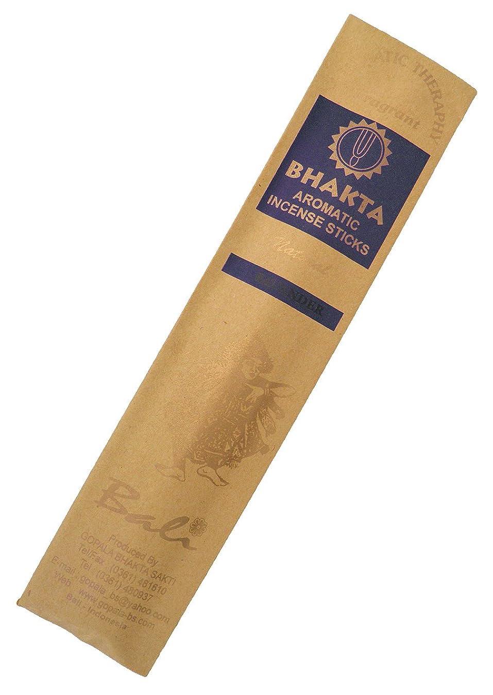群衆正気誇張お香 BHAKTA ナチュラル スティック 香(ラベンダー)ロングタイプ インセンス[アロマセラピー 癒し リラックス 雰囲気作り]インドネシア?バリ島のお香