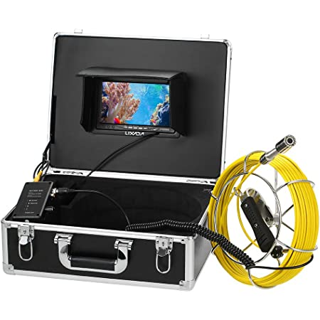 Lixada Fischfinder 20m Ablassen Rohr Kanal Inspektion Kamera Ip68 Wasserdicht Industriell Endoskop Kamera 7 Lcd 12 Leds Nacht Vision Sport Freizeit