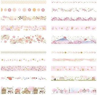 HONGTAI 20Rolls/Lot Foiling Masking Washi Tape Set Manual Craft Decor Scrapbooking Tape For Diary Album Stationery School ...