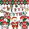Treedeng クリスマス 風船 51点豪華セット ガーランド 紙吹雪風船 サンタクロース風船 バルーン 飾り付け デコレーション クリスマスパーティー クラブ クリスマス飾り 誕生日祝い 装飾 可愛いクリスマス絵柄付き