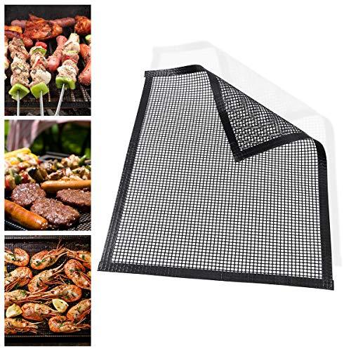 Janolia Grillmatte, 1 Stück Edelstahl Mesh Design Antihaft-BBQ Backen Grillen Mat für Gas, Kohle, Elektrogrill