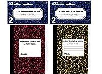 """BAZIC 80Ct。4.5"""" X 3.25"""" Miniマーブルコンポジションブック( 2/ Pack )ケースパック24"""