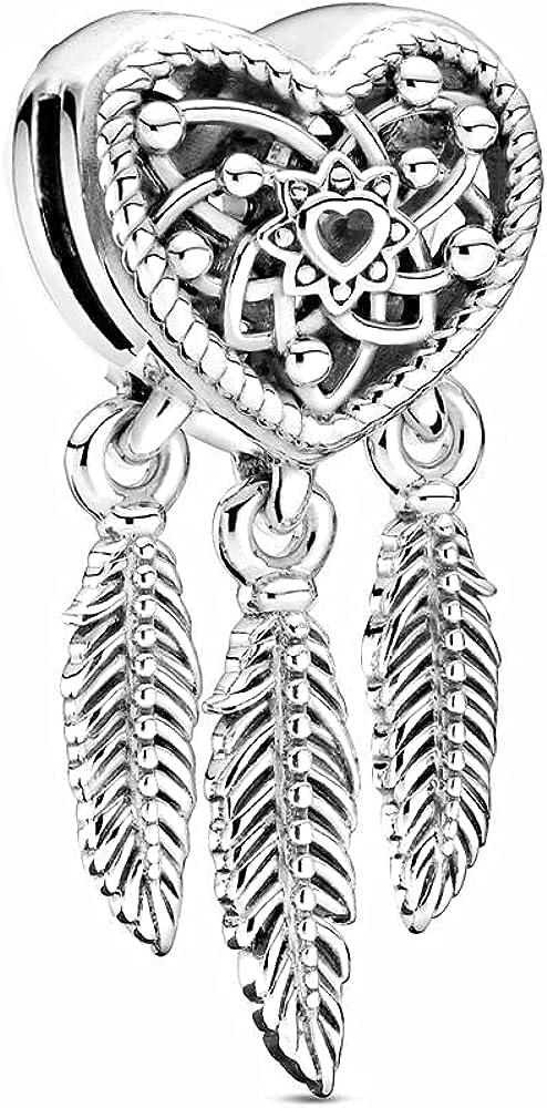 Gosikee Dream Catcher reflexions charms for pandora ,Jewelry Spiritual Dreamcatcher Bead Charms for Bracelets Women Girl Gift …