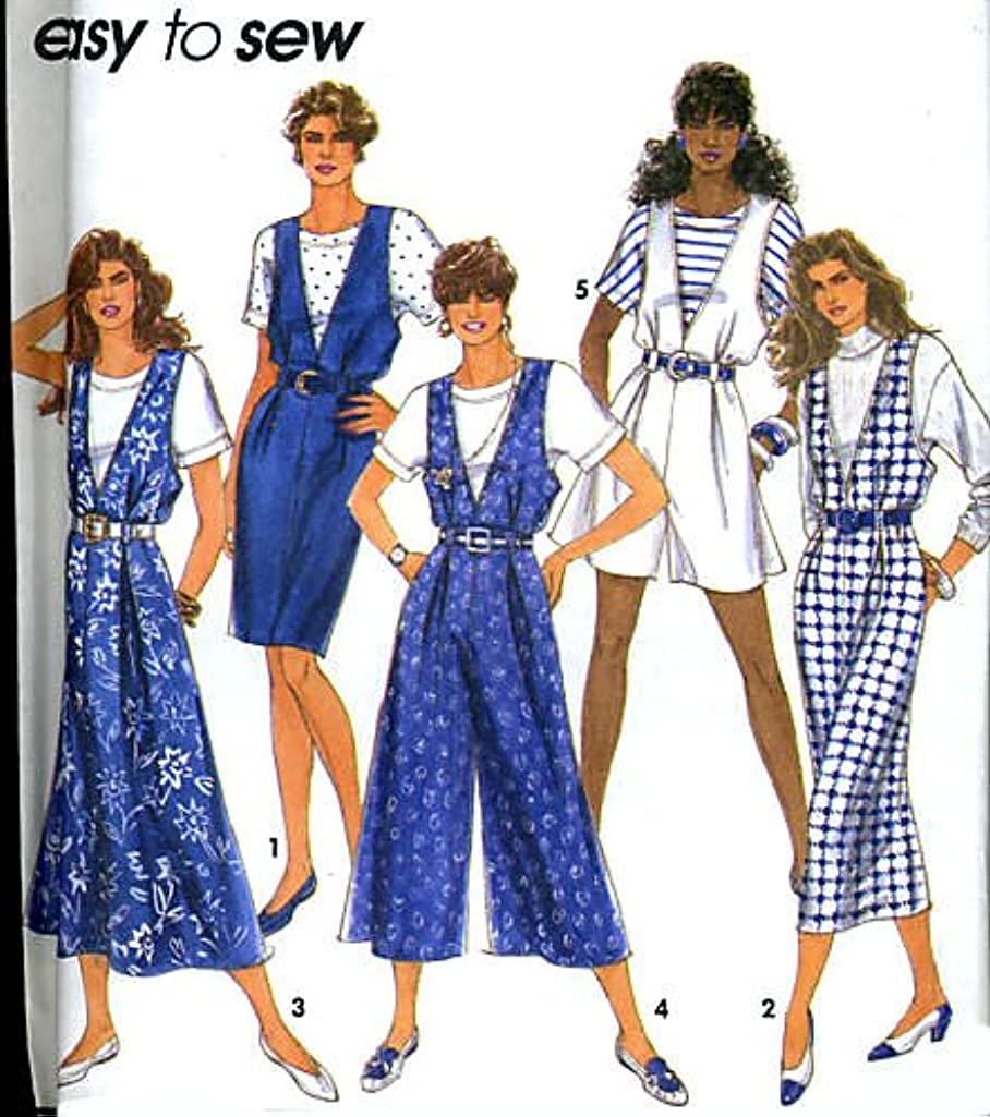 Simplicity Pattern 7877 Misses'/Miss Petite Jumpers & Top, AA (Size 6-16)