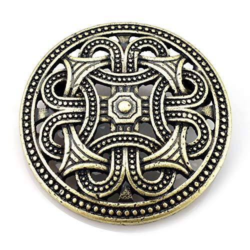 URBANTIMBER Wikinger Fibel Keltische Knoten - Gold