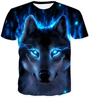 Unisex Novelty 3D Graphic Printed Crewneck Short Sleeves Tops T-Shirt
