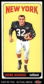 1965 Topps # 118 Cosmo Iacavazzi New York Jets (Football Card) Dean's Cards 4 - VG/EX Jets