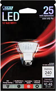 Feit Electric BPMR11/LED Electric Non-Dimmable Led Lamp, 4 W, 12 V, Multi-Faceted Reflector, G4, 1.5