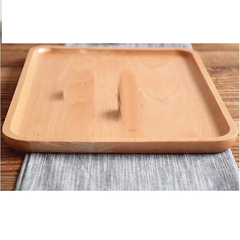 バイバイ蜂退屈ホテルのレストラン、木の色のために適した容易な貯蔵のための和風ニレの皿の茶皿 QYSZYG