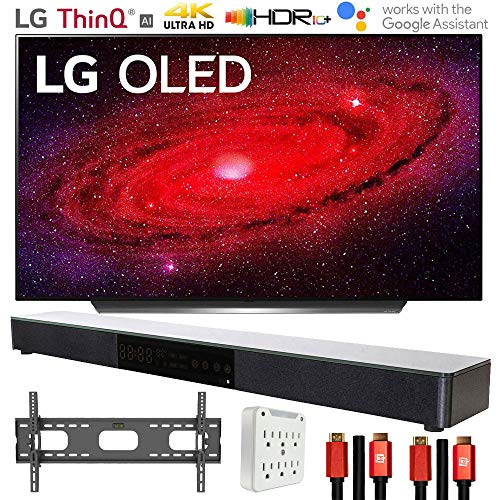 LG OLED48CXPUB 48' CX 4K OLED TV AI ThinQ (2020) with Deco Gear Soundbar Bundle