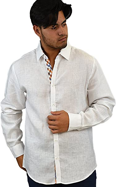Bohio White Tropical Leaf Print Print S~2XL - MCS1209 Pocket Casual Shirt 1