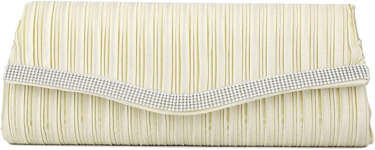 Rhinestone Clutch Elegant Evening Bag - Crossbody Bag Women's Handbag for Bridesmaid Wedding Party Dinner Bag