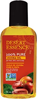 Desert Essence 100% Pure Jojoba Oil - 2 Fl Oz - Haircare & Skincare Essential Oil - Suitable For All Skin Types - No Oily ...