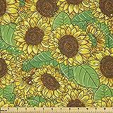 Lunarable Sonnenblumen-Stoff von The Yard, Blumenstrauß