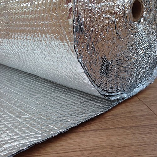 6㎡-60㎡ Floor Wall Double Aluminium Foil Bubble Insulation Warm Loft Shed Caravan
