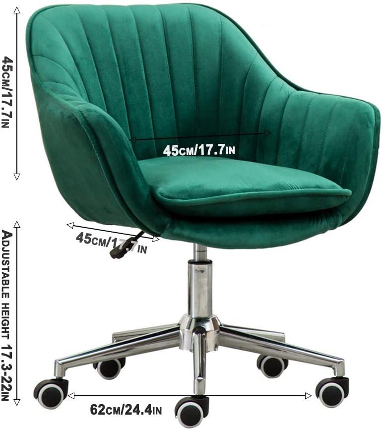 LXYu- Office Chair Chaise de Bureau en Peluche Support Lombaire Ergonomique à Dossier Moyen réglable en Hauteur 17,3
