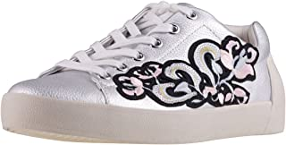 Ash Footwear Nak Bis Silver Leather Embroidered Trainer
