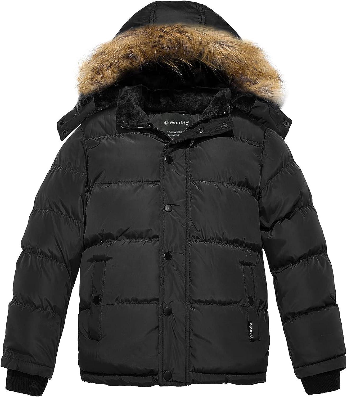 Wantdo Boy's Hooded Warm Winter Coat Thicken Puffer Jacket Waterproof Outwear