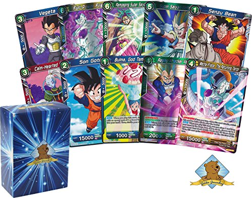 Dragon Ball Super Lot of 50 Cards! Random Rare Card In Each Bundle! Includes Golden Groundhog Deck...
