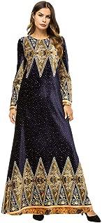 Meijunter Muslim Dress Women Velvet Long Sleeve Abaya Ethnic Islamic Kaftan