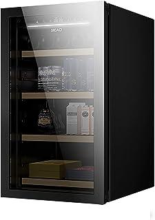 CLING Vinkylare kylskåp dubbel zon inbyggd eller fristående kylskåp med härdad reversibel glasdörr av rostfritt stål och t...