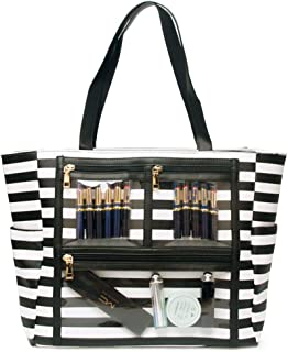 Women Faux Leather Handbag Striped Display Marketing Presentation Bag Tote