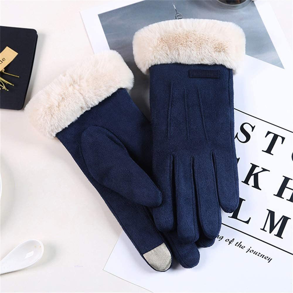 Gloves Women Gloves Velvet Keep Warm Touch Screen Gloves Full Finger Windproof Winter Gloves Mittens Outdoor Cycling Glove