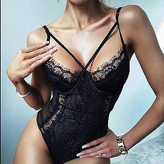 MEN.CLOTHING-LEE Pigiami e Camicie da Notte da Donna Lingerie & Intimo da Donna S-3XL Plus Size Tuta in Pizzo Floreale Tut...