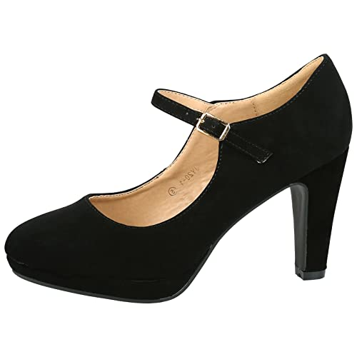 8a6fd9fb26 ByPublicDemand Emmeline Womens High Heel Classic Mary Jane Shoes