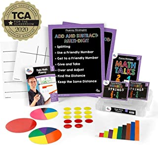 hand2mind Daily Math Fluency Kit for Kids (Grade 5+) - Multiply Up, Partial Quotients, Factor, and Group Flexibility