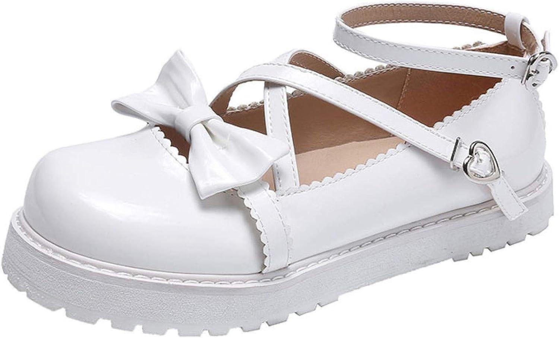 Very popular Max 67% OFF Women Cute Bow-Knot Cross Strap School Flat Ankle Mary Jan