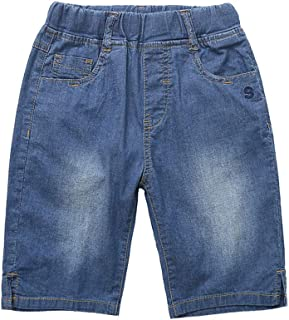 Abalaco Boys' Regular Jeans Short Stretch Denim Pull-on Sport Casual Pants 5-11 Years