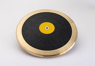 东部大西洋新品 - NFHS 黑色斑点 1 Kilo 飞盘黄铜边缘黄色中心(83% 轮圈重量)