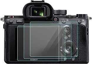3 Pack LCD Screen Protector for Sony Alpha A9 A7II A7RII A7SII A7RIII A7III Mark II Camera, KISSWILL Tempered Glass LCD Screen Protector, Protective Screen Guard for A72 A7R2 A7S2 A7R3 A73 A7R Mark 2