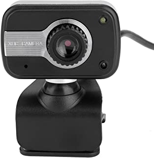 fosa USB Webcam with MIC, 12M Pixel HD PC Camera Web Camera Night Vision 360-Degree Swivel Clip on Web Cam for Online MSN ICQ Chatting Calling Video Recording YouTube Broadcasting