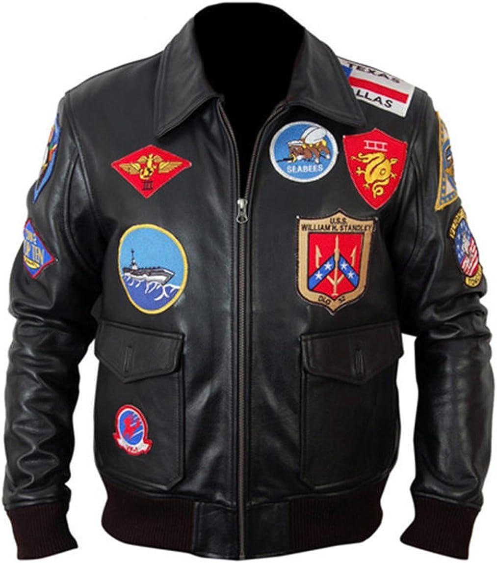 Top Gun Captain Maverick Fighter Pilot Real Leather Jacket
