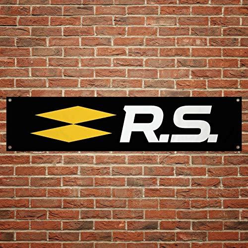 Renault Sport RS Banner Garage Werkstatt PVC Trackside Size:1300mm x 300mm