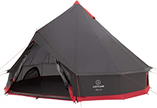 Justcamp Bell Tipi Tent Camping voor groepen, families, Pyramid tent kamperen (6, 8, 10, 12 personen)