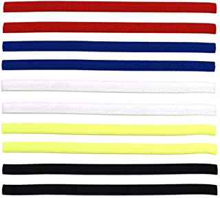 Xiuyer Diadema Deportiva Elásticas, 10 Piezas Antideslizante Bandas de Cabeza Deporte Cintas de Pelo para Mujeres y Hombres Fútbol Tenis Yoga Ejercicio(5 Colores)