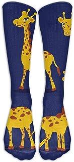 Hunter qiang, Calcetines largos para mujer, diseño de jirafa impreso, por encima de la rodilla, botas, niñas, largo de 50 cm